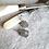 Thumbnail: Faceted Tourmaline Folded Bezel Earrings