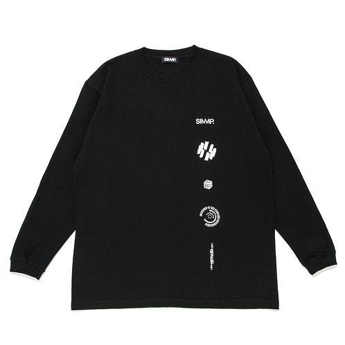 SIMMP. Logo Shelf Long Sleeve T-shirt Black