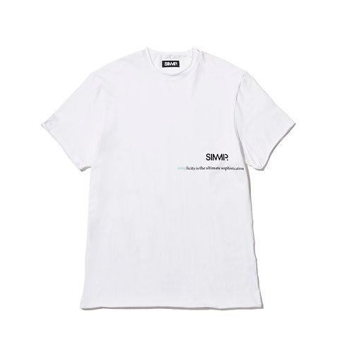 SIMMP. Raw Edge T-shirt White