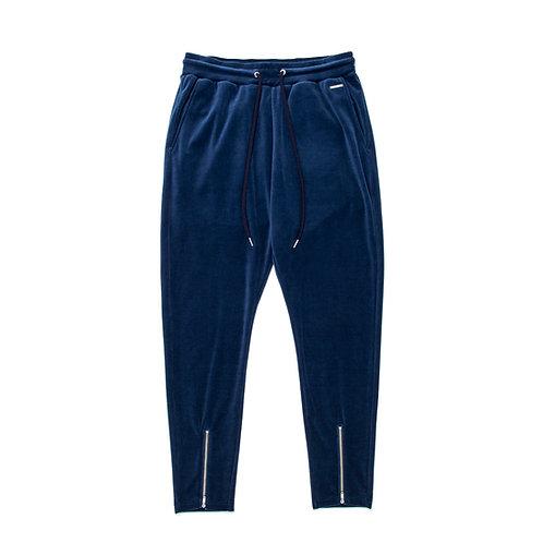 SIMMP. Velour Long Pants Blue