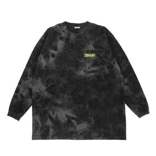 SIMMP. Tie Dye Long Sleeve T-shirt Black