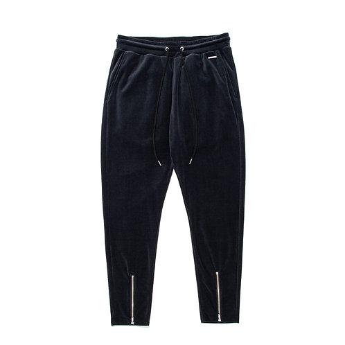 SIMMP. Velour Long Pants Black