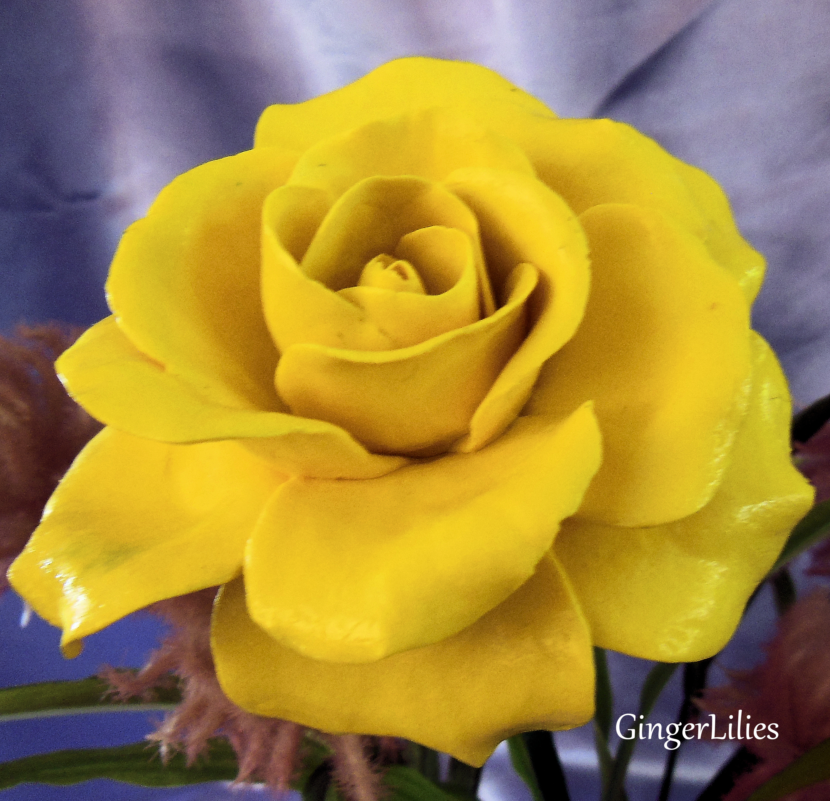 Handmade Yellow Rose