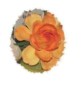 Handmade Clay Big Rose