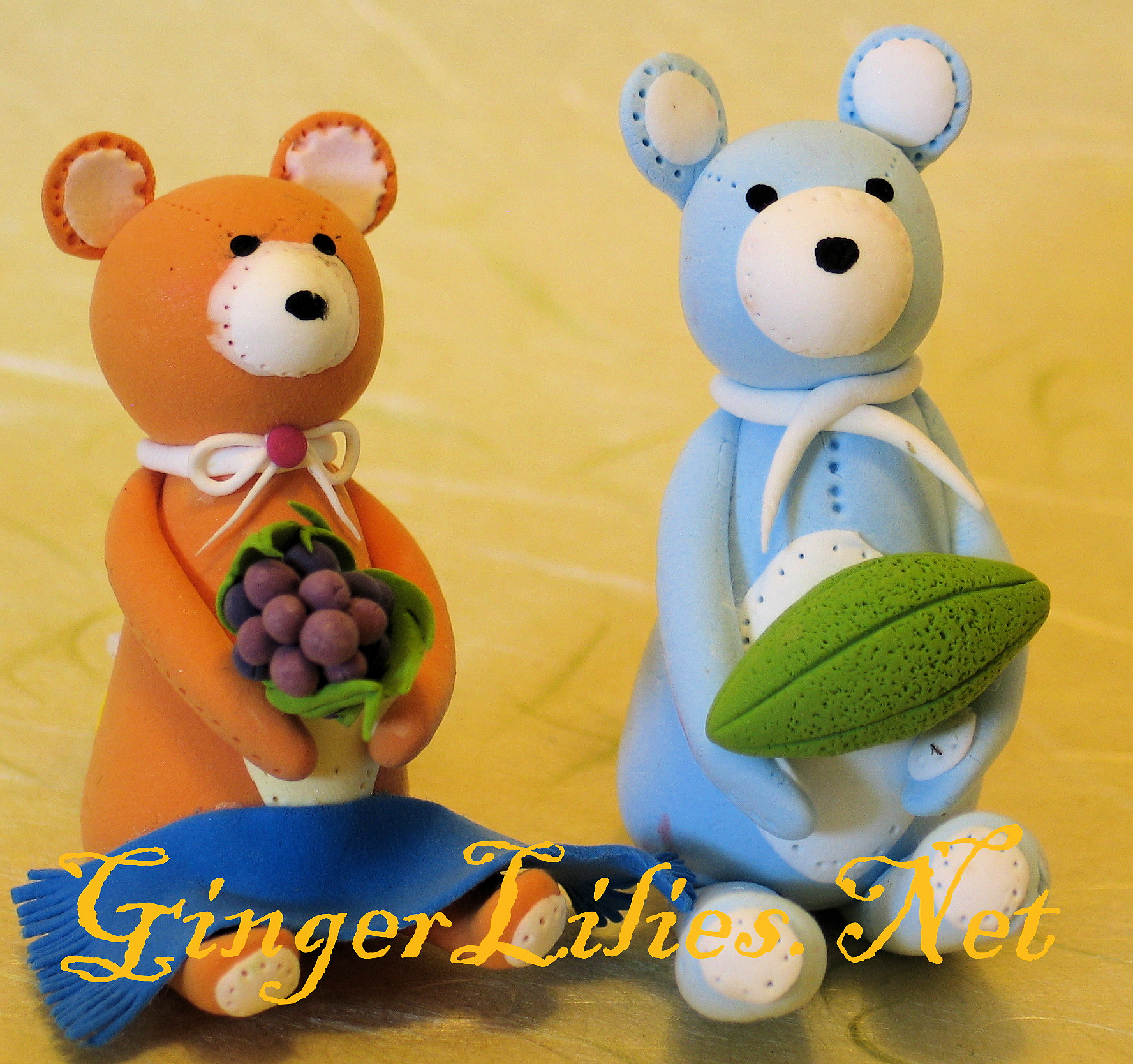 Handmade Clay Craft - Bears