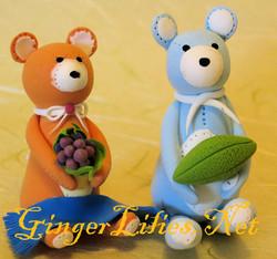 Handmade Clay Craft - Bears
