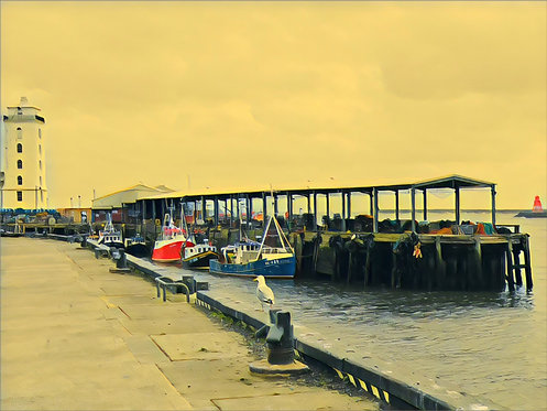 North Shields Fish Quay 40x50cm Art Print