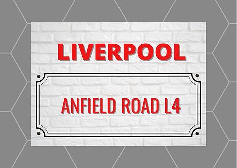 Liverpool Brick Sign A6 Gloss Paper Magnet
