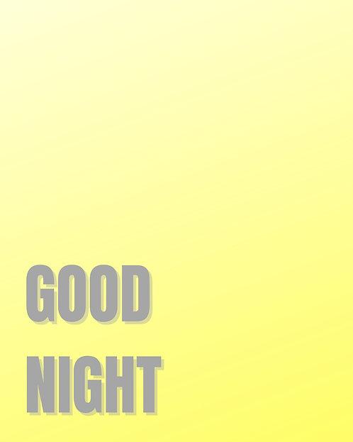 Good Night 40x50cm Art Print