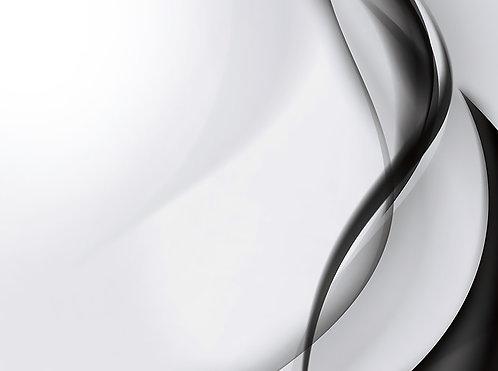 Black & White Abstract II 4x6 inches Art Print