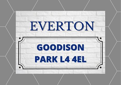 Everton Brick Sign A5 Gloss Paper Magnet