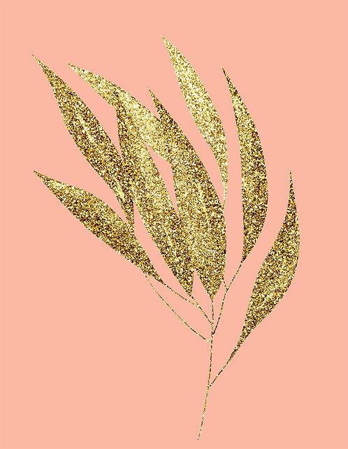 Blush & Gold Leaf 40x50cm Art Print