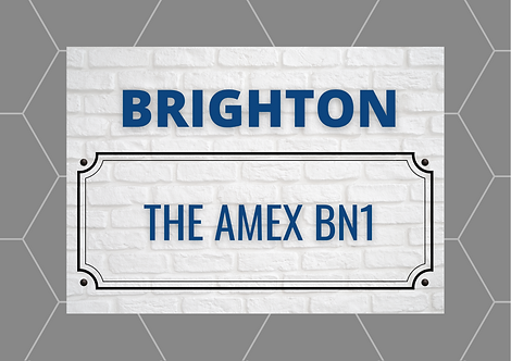 Brighton & Hove Brick Sign A6 Gloss Paper Magnet