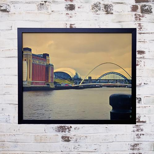 The Tyne Bridges 40x50cm Framed Canvas