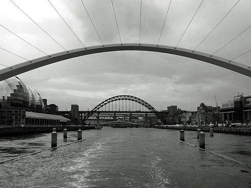 Quayside Bridges 24x30cm Art Print