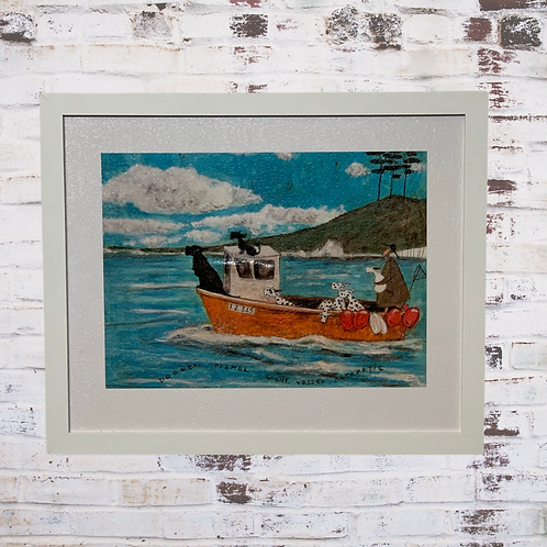 Dogger Fisher Light Vessel Automatic By Sam Toft In Oil Paint Effect
