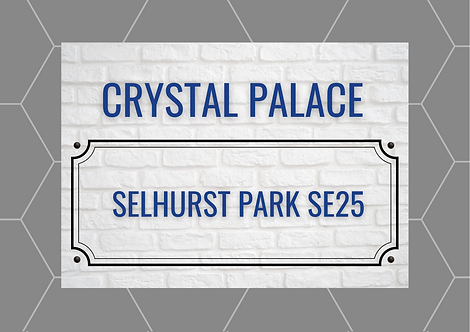 Crystal Palace Brick Sign A5 Gloss Paper Magnet