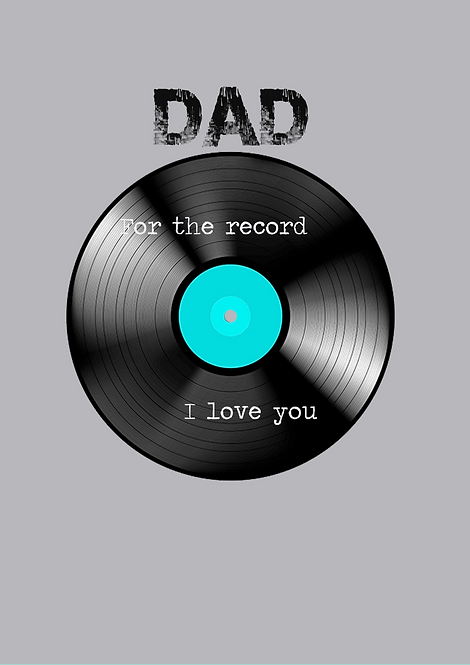 Dad For The Record I Love You A5 Gloss Paper Magnet
