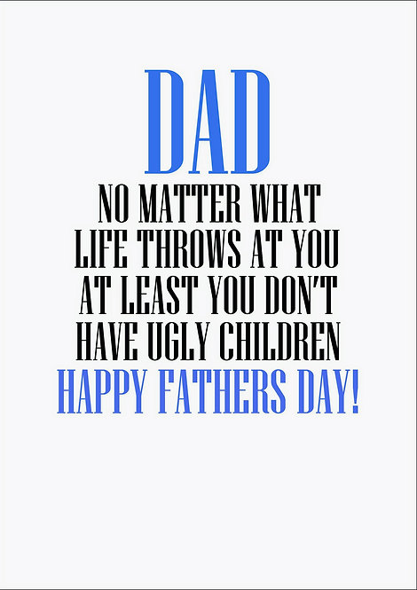 Dad No Matter What Life Throws At You Fathers Day Greeting Card