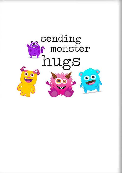 Sending Monster Hugs Fridge Magnet