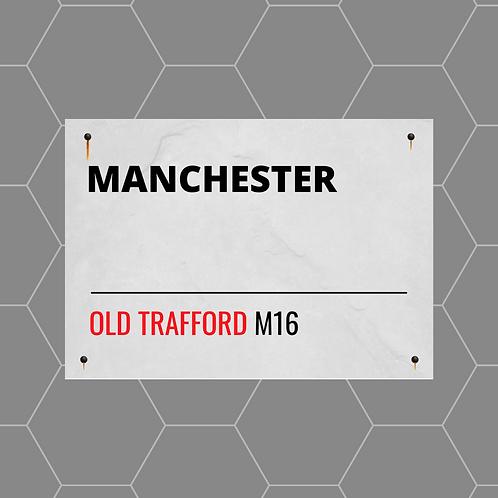 Manchester Street Sign A4 Gloss Paper Magnet