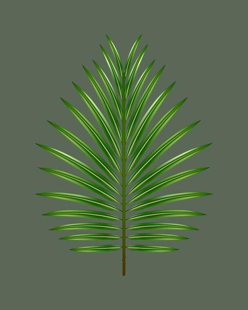 Tropical Leaf 24x30cm Art Print