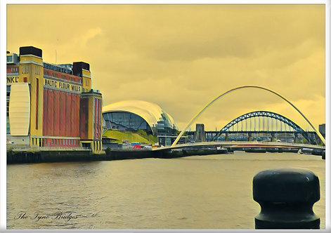 The Tyne Bridges Fridge Magnet