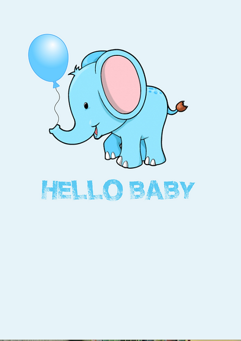 Hello Baby A6 Gloss Paper Magnet