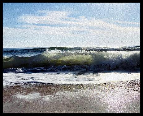 Aqua Grand 24x30cm Art Print With Textured Finish