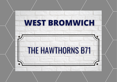 West Bromwich Brick Sign A6 Gloss Paper Magnet