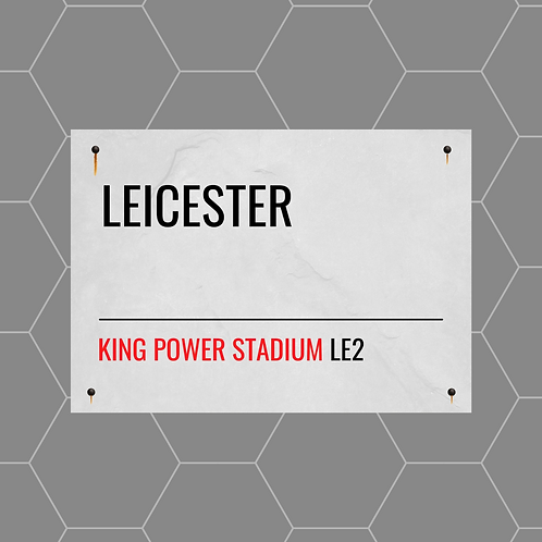 Leicester City Street Sign A6 Gloss Paper Magnet