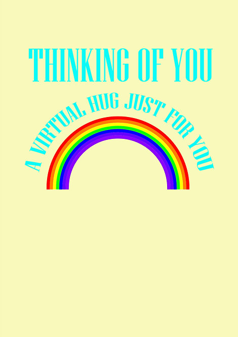 Thinking Of You - A Virtual Hug Just For You Greeting Card