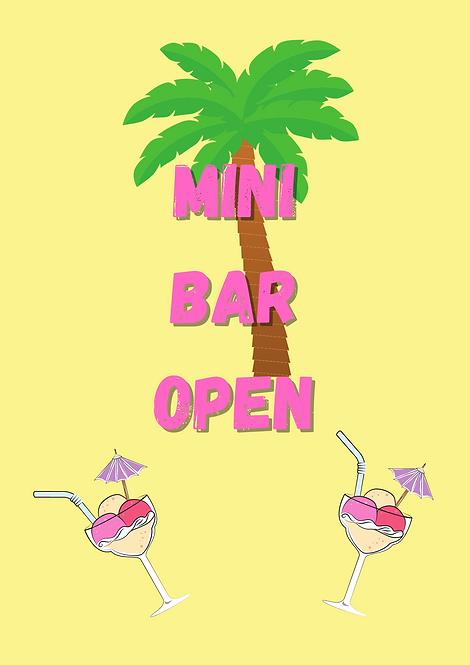 Mini Bar Open A4 Gloss Paper Magnet