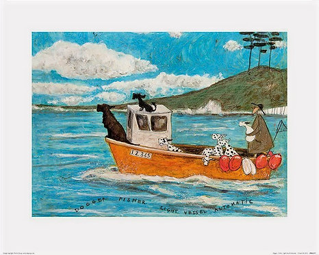 Dogger, Fisher, Light Vessel by Sam Toft 40x50cm Art Print