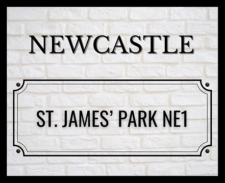 Newcastle Brick Sign 40x50cm Art Print