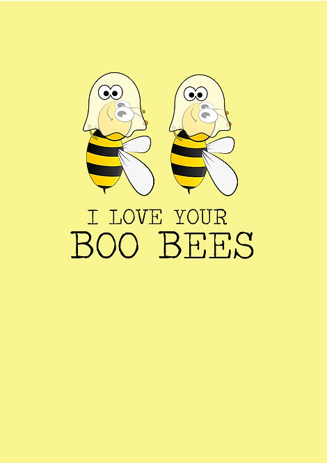 I Love Your Boo Bees Greeting Card