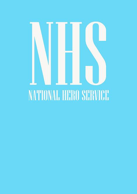 NHS National Hero Service Greeting Card