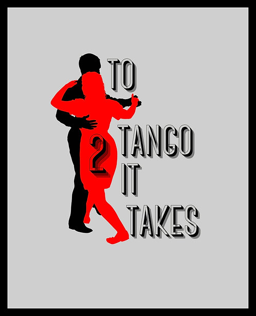 To Tango It Takes 2 4x6 inches Art Print