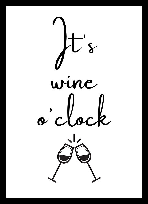 It's Wine 0'Clock A5 Gloss Paper Magnet