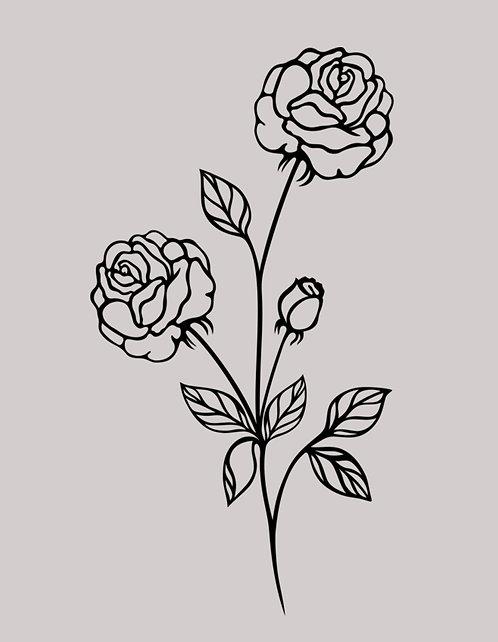 Floral Line III 24x30cm Art Print