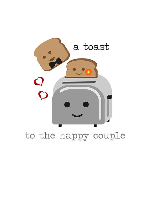 A Toast To The Happy Couple Greeting Card