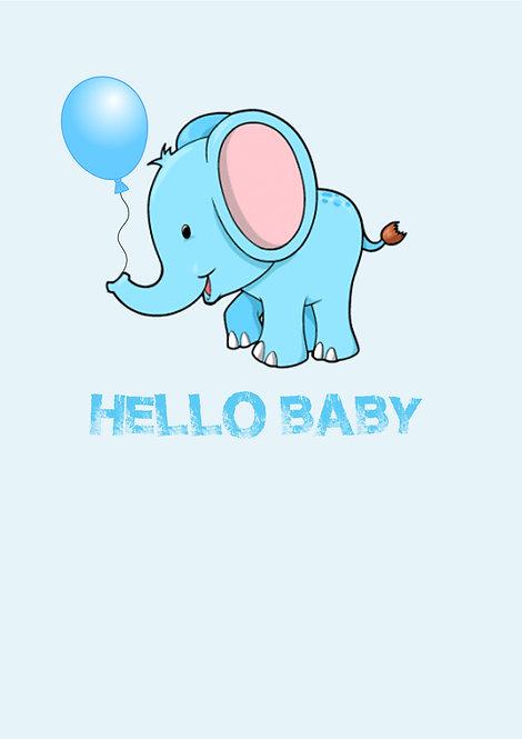 New Baby Boy Greeting Card