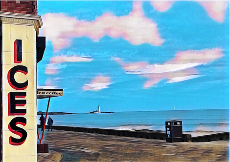 The Rendezvous Café Whitley Bay A4 Gloss Magnetic Print