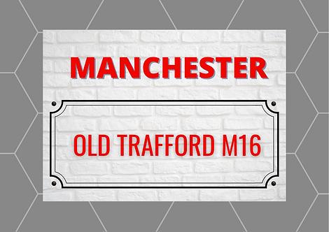 Manchester Brick Sign A4 Gloss Paper Magnet