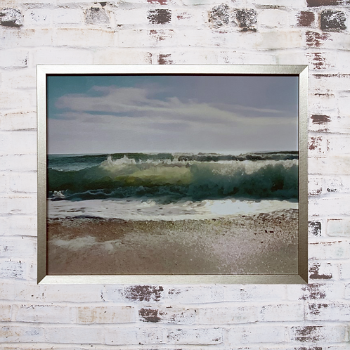 Aqua Blue 40x50cm Framed Canvas
