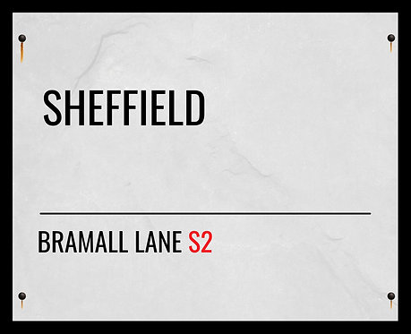 Sheffield United FC Street Sign 24x30cm Art Print