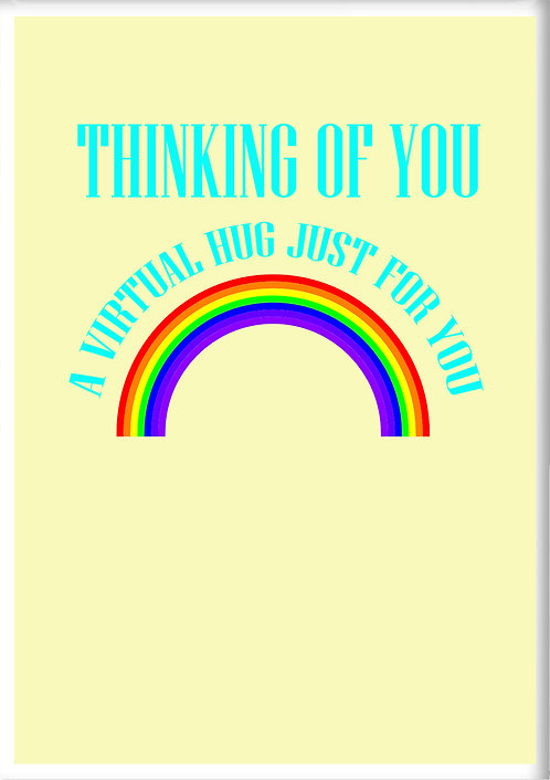 Thinking Of You A Virtual Hug Fridge Magnet