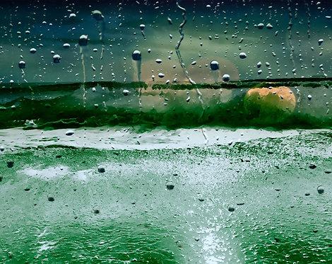 Aqua Abstract Green III 24x30cm Art Print