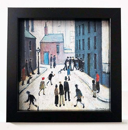 Industrial Scene 1953 by L S Lowry in Oil Paint Effect