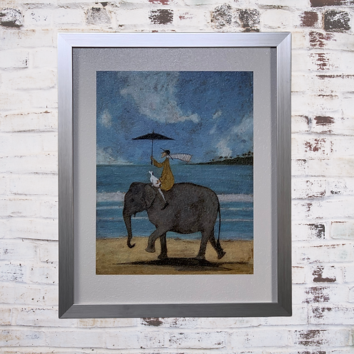 On The Edge Of Sand By Sam Toft In Oil Paint Effect
